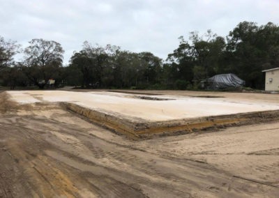 Allareas Earthmoving - Earthworks - Completed House pad