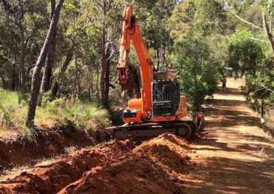 Allareas Earthmoving - Earthworks - Service Trench